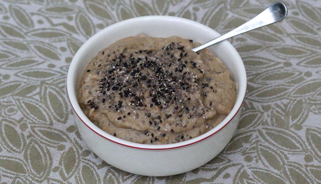 eggplant spread in a bowl